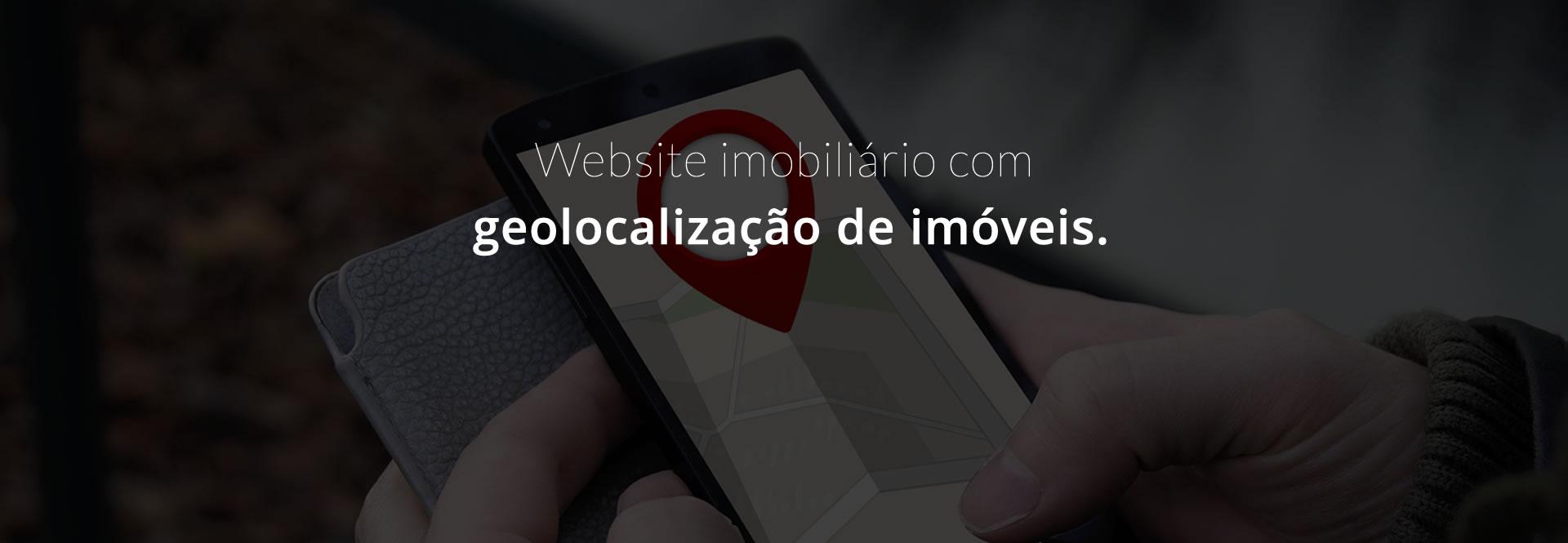 Website imobiliário com geolocalização de imóveis.