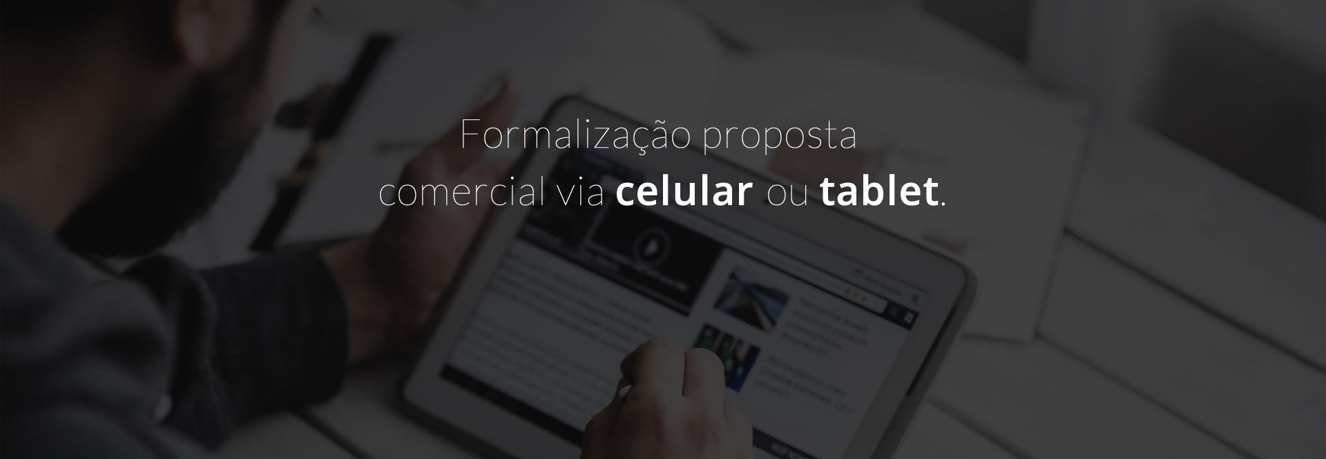 Formalização proposta comercial via celular ou tablete